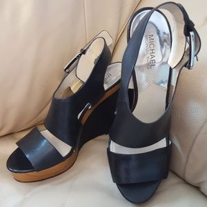 Beautiful Michael Kors Wedge Sandals Like New